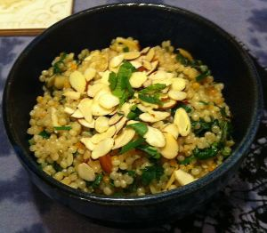 Karl's Israeli Couscous With Almonds and Mint