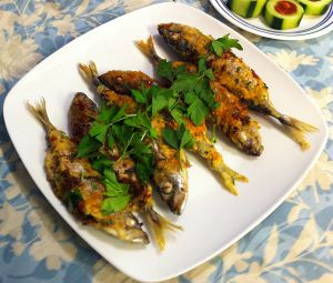 Karl's Tapas: Caballa Frita Rellena (Fried Stuffed Mackerel)