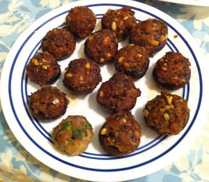 Karl's Tapas Champiñones Rellenos de Cerdo y Piñones (Mushrooms Stuffed with Pork and Pine Nuts)