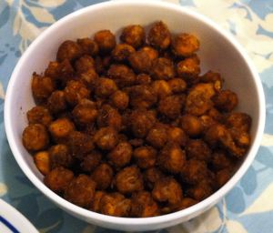 Karl's Tapas: Garbanzos Picantes Asados (Roasted Spicy Chickpeas)