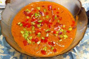 Karl's Tapas Gazpacho (Cold Tomato Soup)