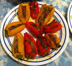 Karl's Tapas Piquillo Rellenos de Cordero (Sweet Mini Peppers Stuffed with Lamb)