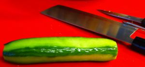Strip Peeled Cucumber