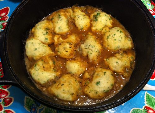 Karl's Chicken Marsala and Butter Dumplings