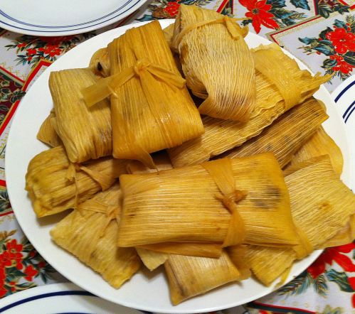 Karl's Corn, Poblano and Crab Tamales