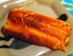 Karl's Dry Fried Salmon