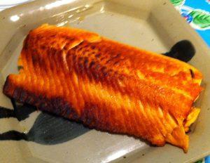Karl's Dry Fried Salmon