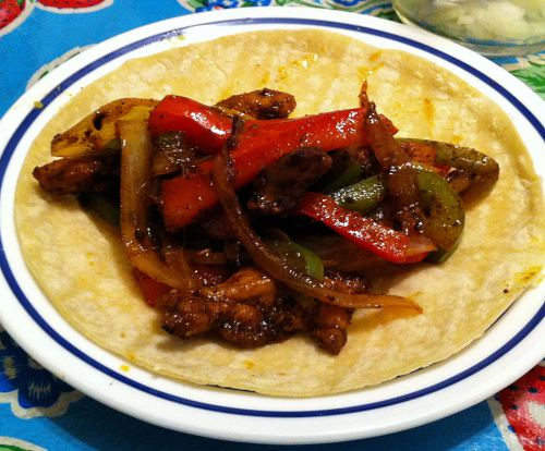 Karl's Leftover Chicken Fajita Tacos