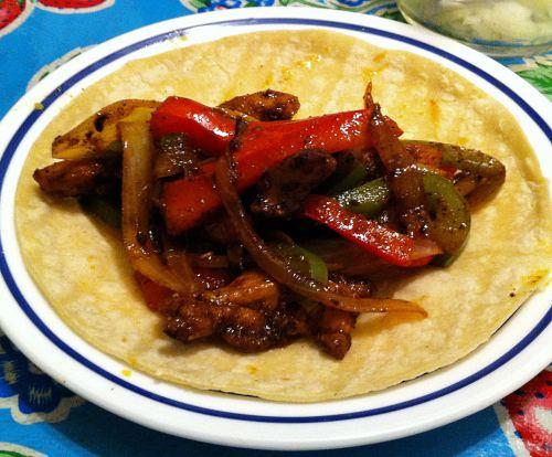 Karl's Leftover Chicken Fajita Tacos
