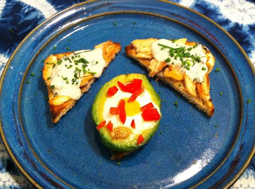 Eggs Baked in Avocado