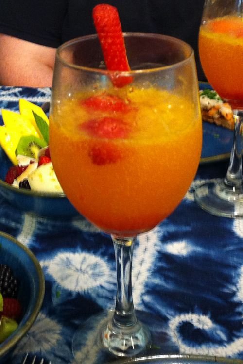 Karl's Strawberry Sunrise Mimosa