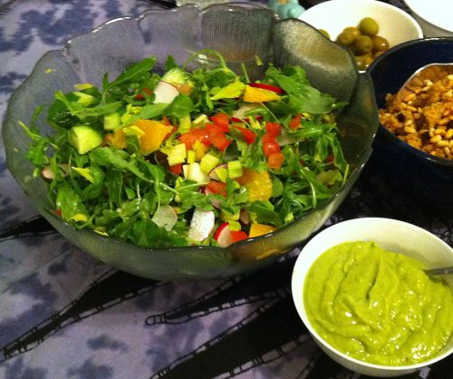 Karl's Arugula Salad with Orange Avocado Dressing