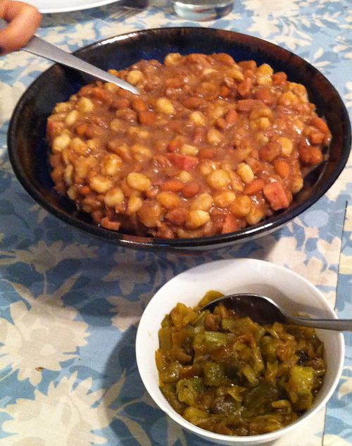 Hopi Pinto Beans and Hominy