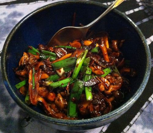 Karl's Beech and Oyster Mushroom Stir-fry