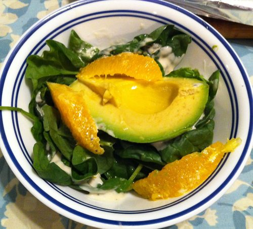 Karl's Avocado, Orange and Spinach Salad