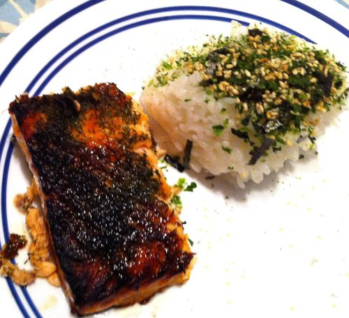 Karl's Broiled Salmon with Lemon Marmalade and Dill