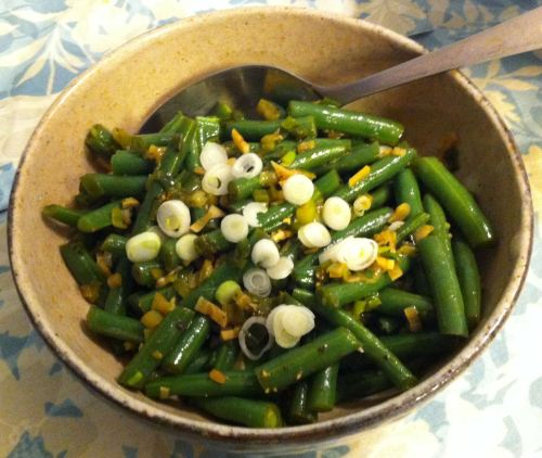 Karl's Green Beans with Balsa Mela Vinegar