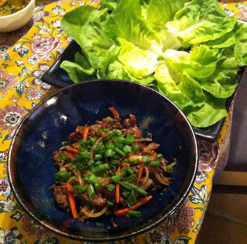 Karl's Beef Bulgogi with Lettuce Wraps