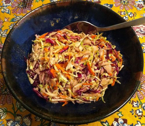 Karl's Colorful Coleslaw with Kumquat Marmalade Sumac Dressing