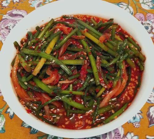 Karl's Garlic Chive Stem Kimchi