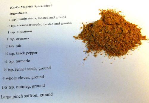 Karl's Moorish Spice Blend