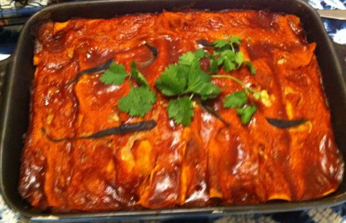 Karl's Poblano and Bean Enchiladas