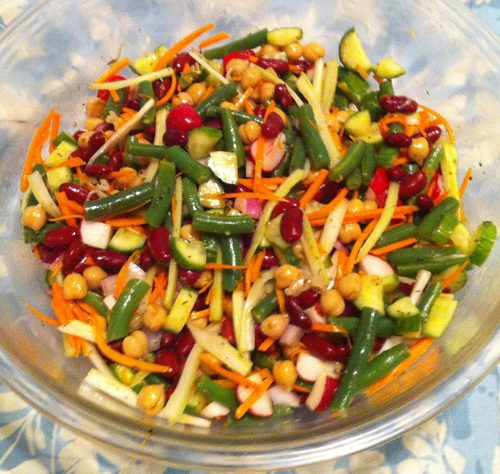 Karl's Three Bean Salad Plus with Kumquat Marmalade Dressing
