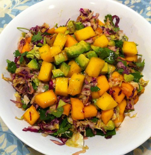 Karl's Avocado, Mango Slaw with Lime Dressing
