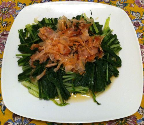 Karl's Mizuna no Ohitashi