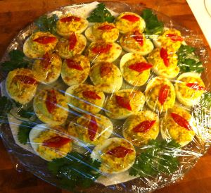 Karl's Potluck Curried Deviled Eggs