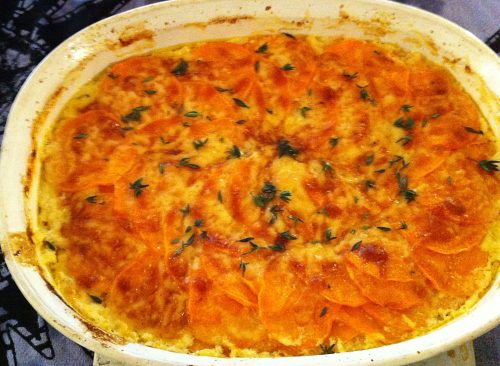 Karl's Scalloped Sweet Potatoes