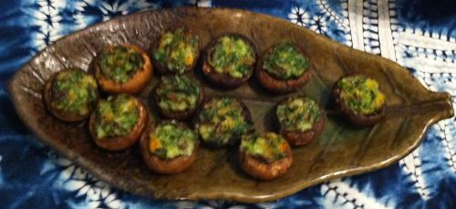 Karl's Shrimp and Wild Rice Stuffed Mushrooms