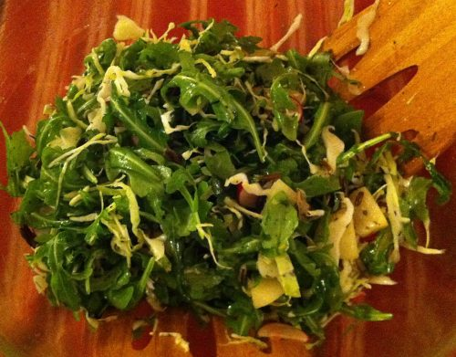 Karl's Arugula and Cabbage Salad with Wild Rice