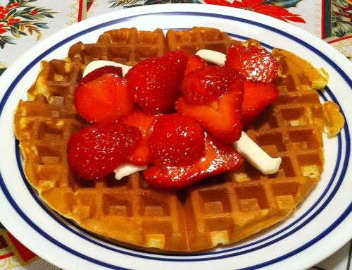 Karl's Orange Infused Waffles