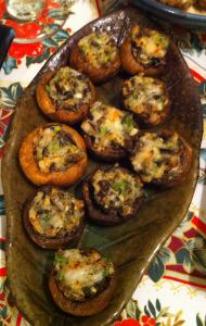 Karl's Shrimp and Wild Rice Stuffed Mushrooms II