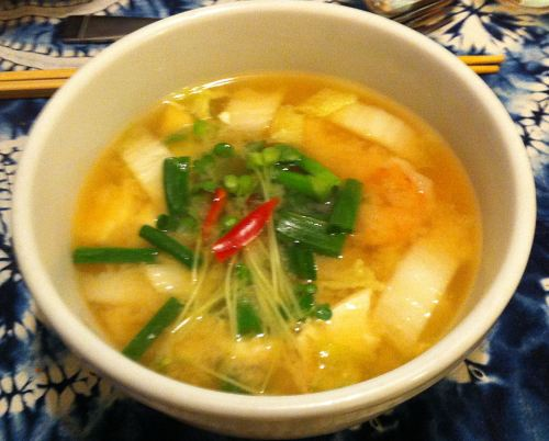 Karl's Shrimp Miso Soup