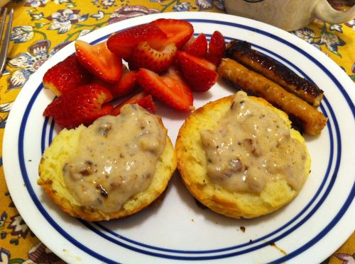 Karl's Biscuits and Chicken Sausage Gravy