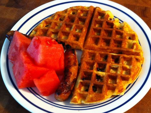 Karl's Blueberry Waffles