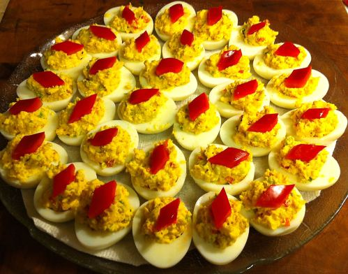 Karl's Cajun Deviled Eggs for a Crowd