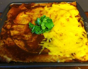 Karl's Mexican Lasagna Topped with Cheese