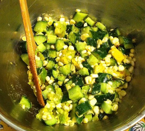 Miriam's Avocado, Corn and Cucumber Salad