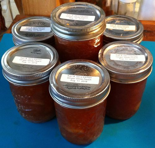 Karl's Ginger White Peach Jam