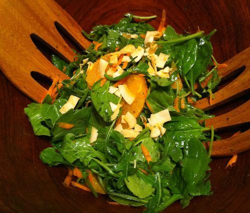 Karl's Arugula, Spinach, and Orange Salad