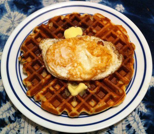 Karl's Cranberry Pecan Waffles