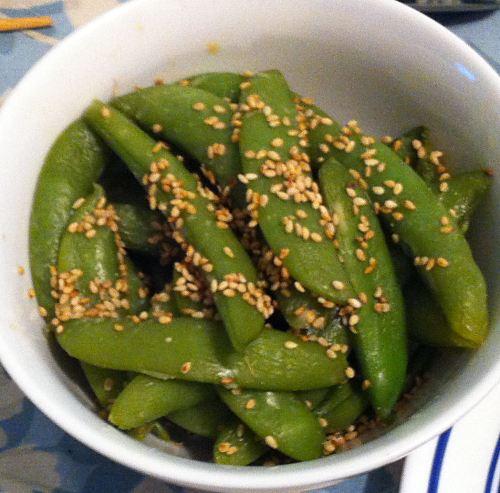Karl's Miso Sugar Snap Peas