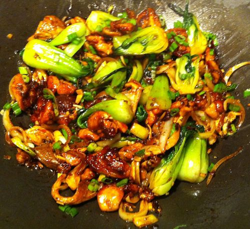 Karl's Oyster Mushroom Chicken with Bok Choy