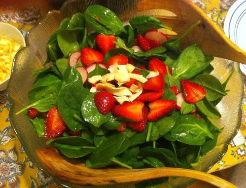Karl's Spinach Salad with Strawberry Vinaigrette
