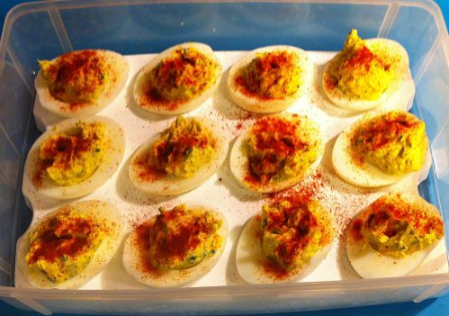 Karl's Thyme and Chive Deviled Eggs
