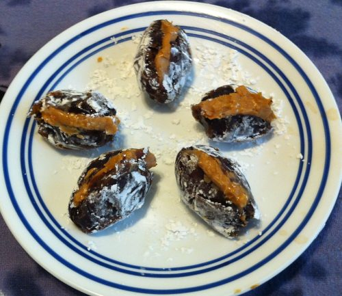 Claudia's & June's Peanut Butter Stuffed Dates