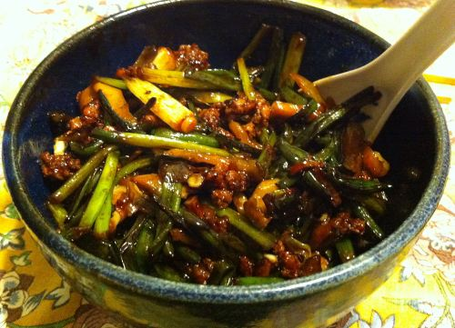 Karl's Chinese Chive Stem and Sichuan Pickle Stir Fry